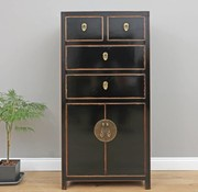 Yajutang Chinese chest of drawers cabinet 4 black