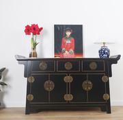 Yajutang chinese altar sideboard black