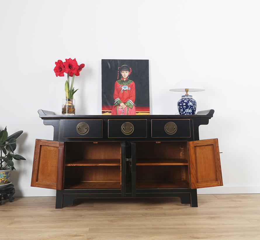 chinese altar sideboard 4 Türen 3 Schubladen black