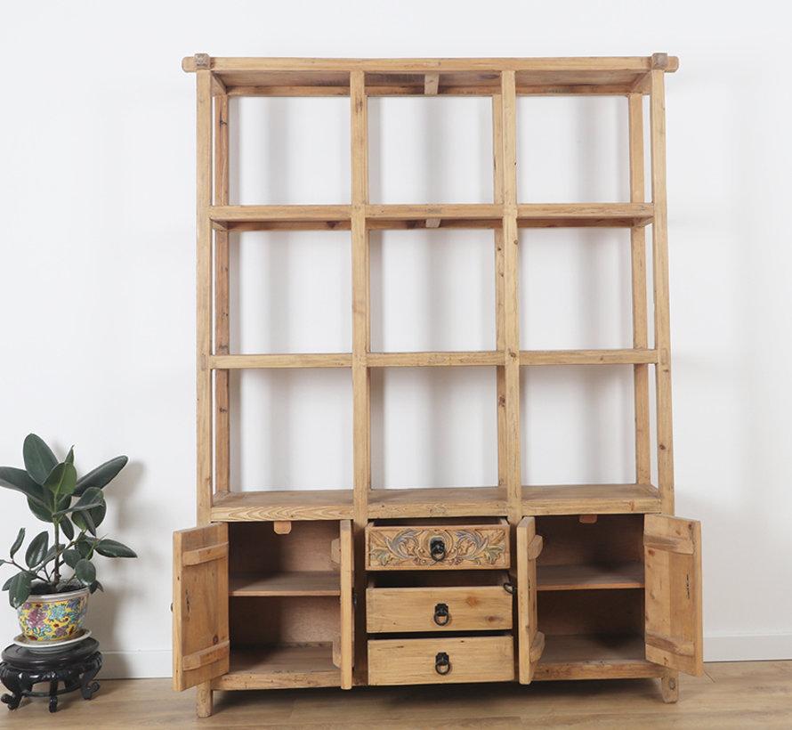 Chinesisches Regal Regalschrank Massiv Holz handarbeit