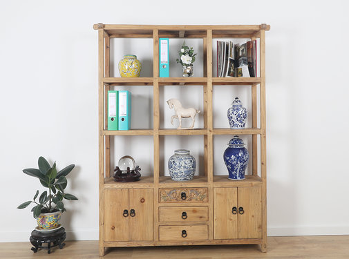 Yajutang Chinese shelf cabinet in solid wood