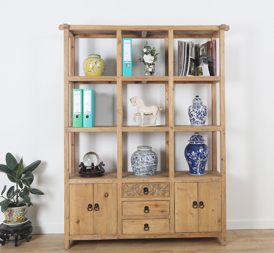 Chinese shelf shelf cabinet solid wood handmade