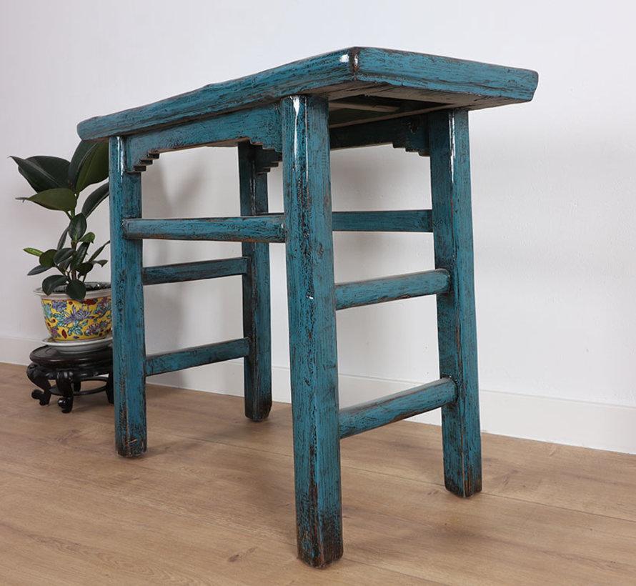 Chinesischer Tisch Massivholz China Beistelltisch Teetisch blau