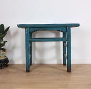 Yajutang Antiker Tisch Beistelltisch Teetisch blau