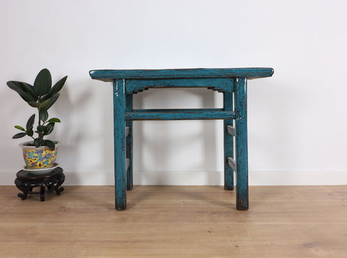 Yajutang Antique table side table tea table blue
