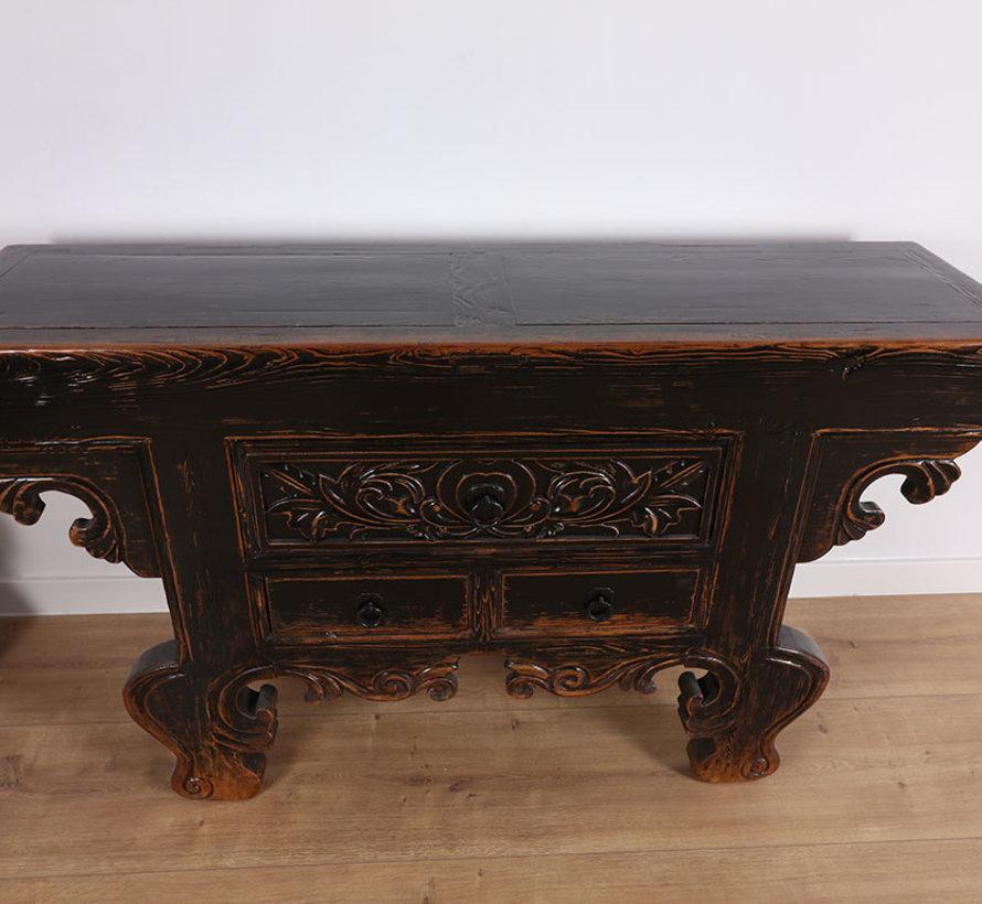 Antiker Chinesischer Tisch Massivholz China Beistelltisch Teetisch