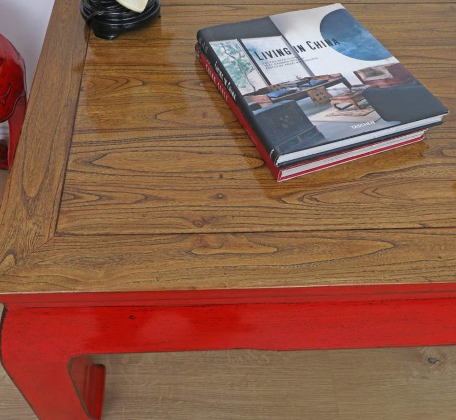 Table Coffee table Sofa table Opium solid wood red