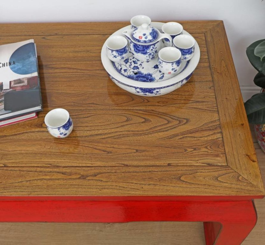 Tisch Couchtisch Sofatisch Opium Massivholz rot