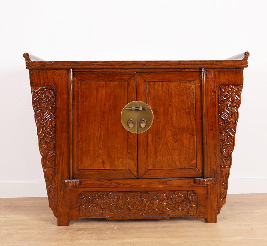 Antike Kommode Sideboard 2 Türen braun