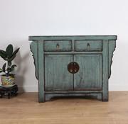 Yajutang Antique dresser 2 doors 2 drawers grey
