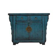 Yajutang Antique dresser 2 doors 2 drawers blue