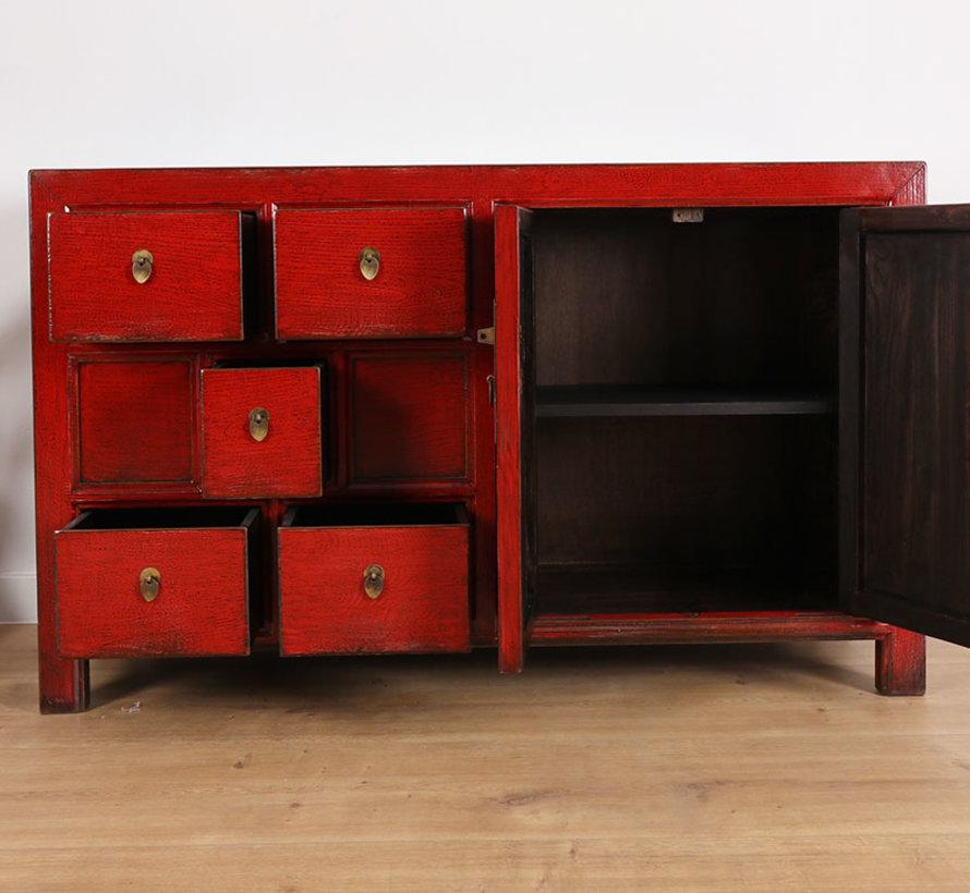 Antike Kommode Sideboard 2 Türen 5 Schubladen