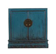 Yajutang Antike Kommode 2 Türen blau