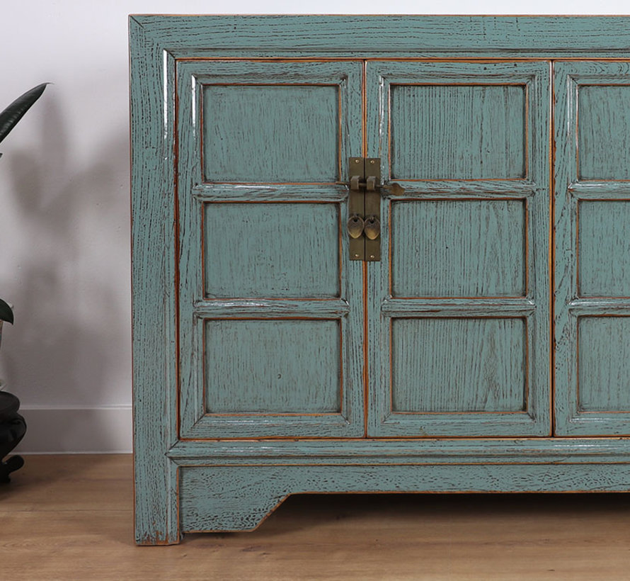 Antike dresser sideboard 4 doors grey