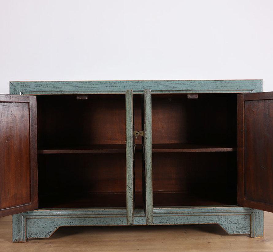 Antike Kommode Sideboard 4 Türen grau