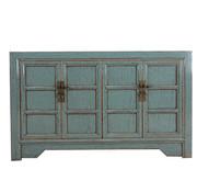 Yajutang Antikes Sideboard 4 Türen grau