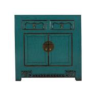 Yajutang Antike Kommode 2 Türen 2 Schubladen