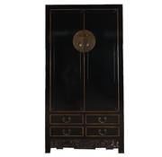Yajutang Hochzeitsschrank 2 Türen schwarz