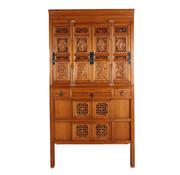 Yajutang Antique wedding cabinet 4 doors brown