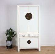Yajutang Wedding cabinet 4 doors 2 drawers white