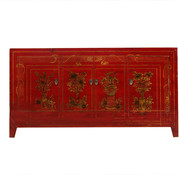 Yajutang Antique hand-painted sideboard red
