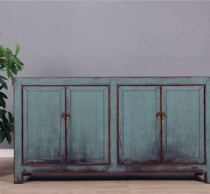 Antique sideboard with two double doors gray