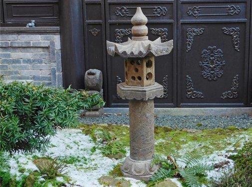 Yajutang Stone lantern natural stone & dragon