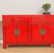 Yajutang Chinese sideboard dresser 4 Türen red