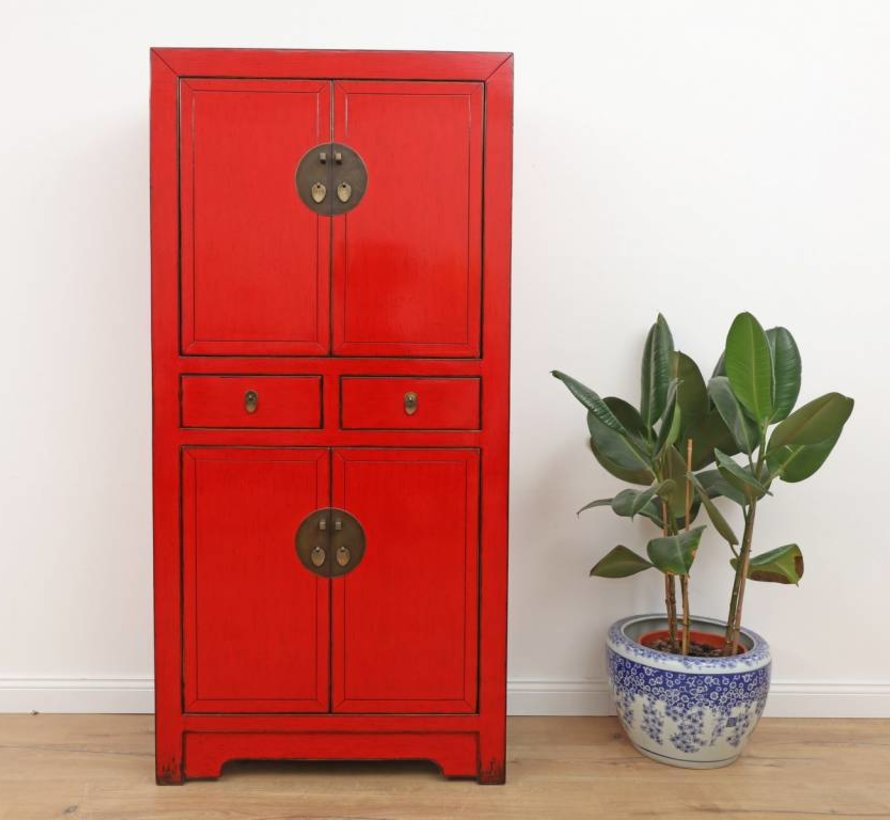 Chinese dresser wedding cabinet red solid wood