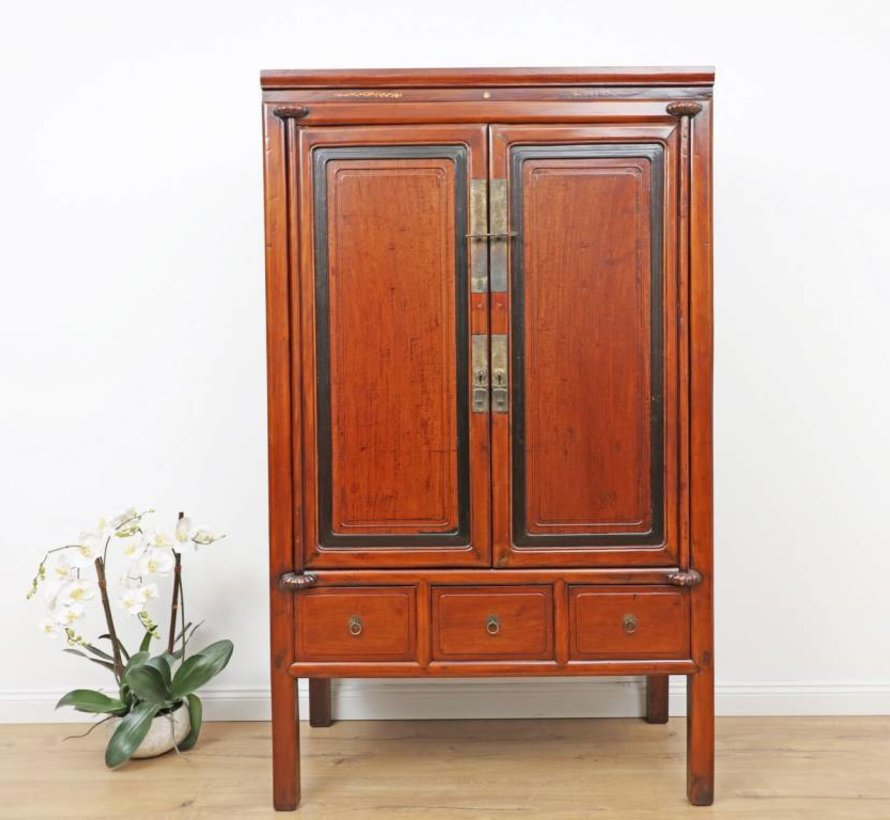 Antique Chinese wedding cabinet traditional