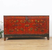Yajutang Antique hand painted floral sideboard
