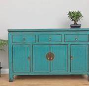 Yajutang Antique sideboard dresser 4 Türen red turquoise