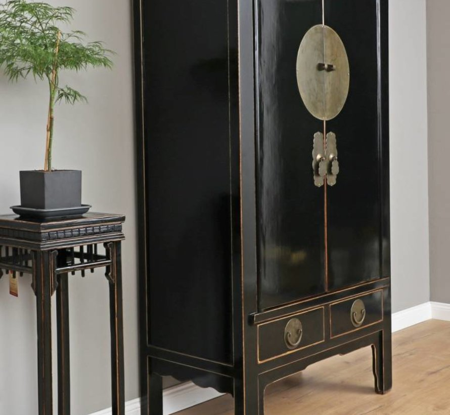 Chinese wedding cabinet solid wood black