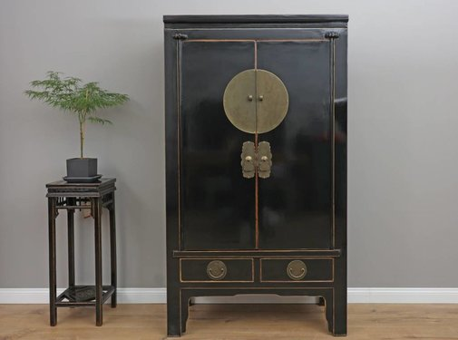 Yajutang Chinese wedding cabinet black