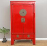 Yajutang Chinese wedding cabinet 2 doors closet red