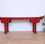 Yajutang Antiker Tisch Couchtisch rot