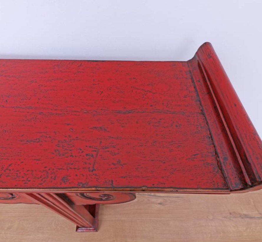 Antiker Tisch Couchtisch Sofatisch rot