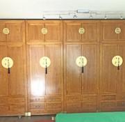 Yajutang Elm wood wardrobe with carvings