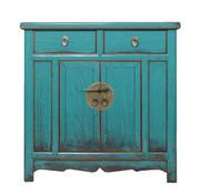 Yajutang Antique dresser double doors turquoise