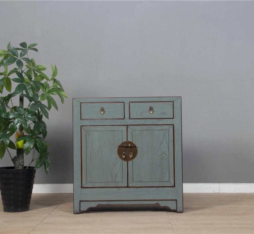 Kommode aus China 2 Türen 2 Schubladen grau