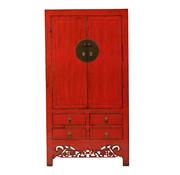 Yajutang Antique wedding cabinet 2 doors red