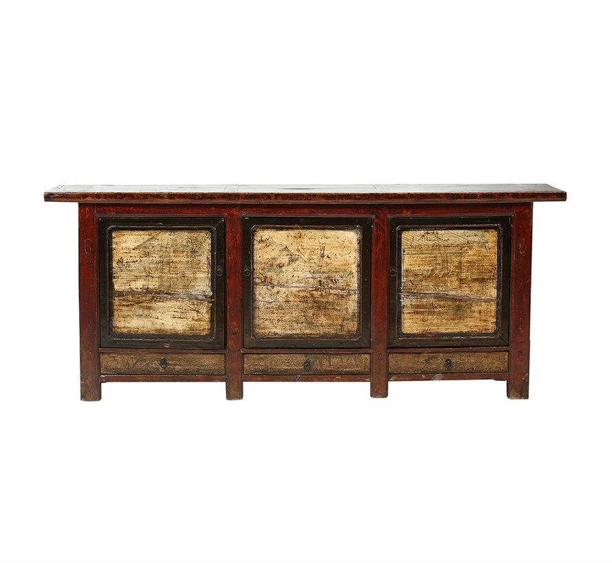 Antiked sideboard from China 3 doors 3 drawers