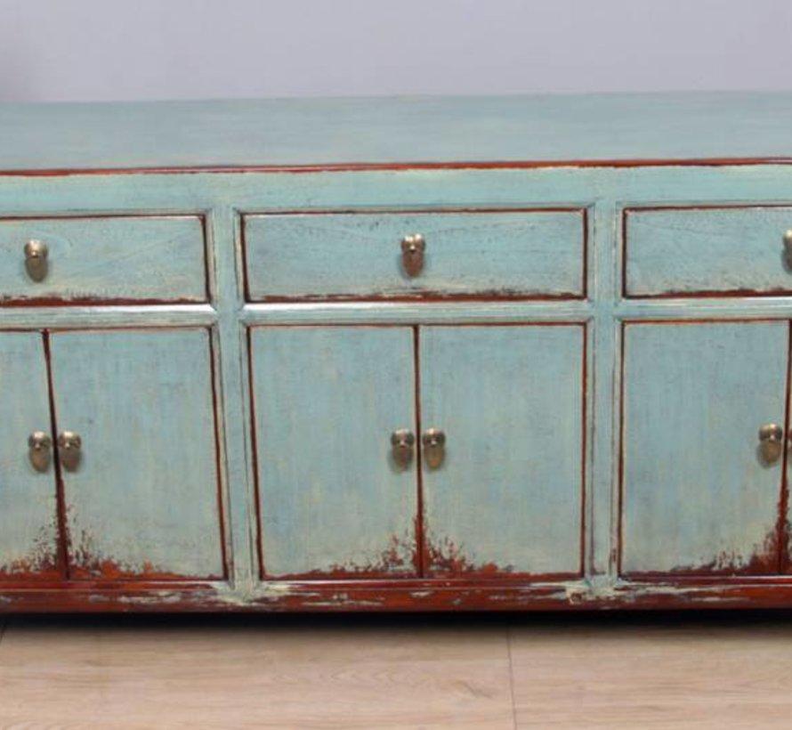 Sideboard 6 Türen 3 Schubladen langer Vorratsschrank used grau