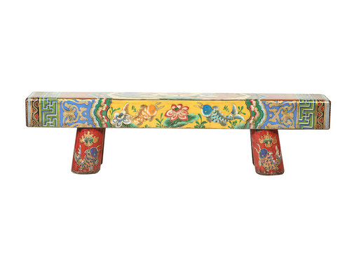Yajutang Antique Chinese wooden bench handpainted