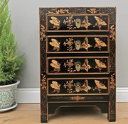 Yajutang Chest of drawers 4 drawers painted black