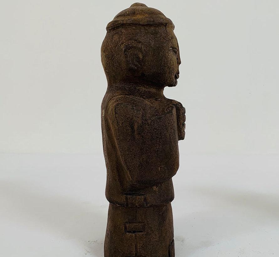 Chinesische Stein Figure Junge und Mädchen