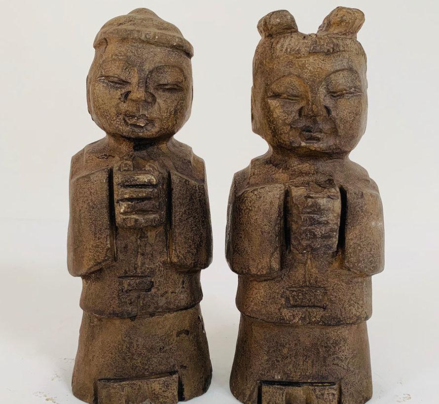 Lefton china jungen und mädchen aus figur