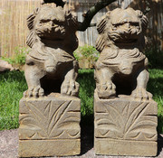 Yajutang Pair of Fu dogs Guardian lions Temple lion