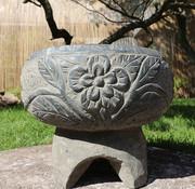 Yajutang Stein Blumentopf für Garten Dekoration Ø33cm