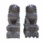 Yajutang Fu dogs Guardian lions Temple lion 40cm H